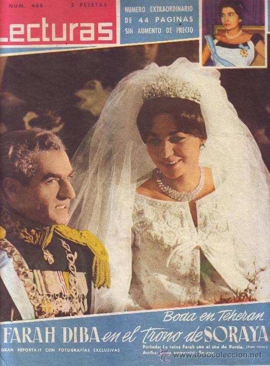 LECTURAS Nº 466, ENERO DE 1960: BODA DE FARAH DIBA. PABLITO CALVO. ANETTE EILY. EISENHOWER. SORAYA.