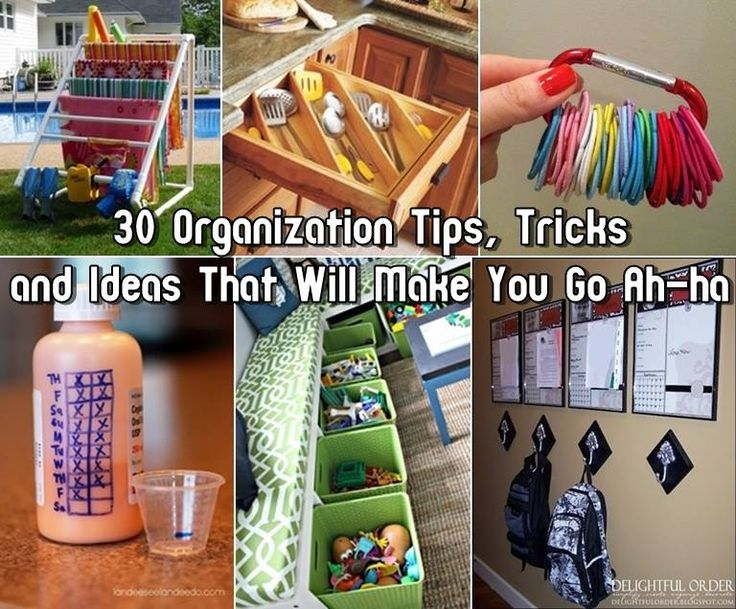30-Organization-Tips-Tricks-and-Ideas-That-Will-Make-You-Go-Ah-ha http://www.simplehouseholdtips.com/clever-organization-tips-and-tricks.html