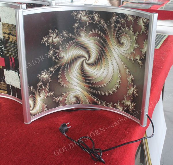 Send us any clear pictures to us, we could print them on heaters for you. Pls look at the printing example above. Do you like it? If yes, pls contact us freely.   We will be always here to wait for you. http://www.sinoradiator.com/curved-shape-freestanding-electric-room-heater/