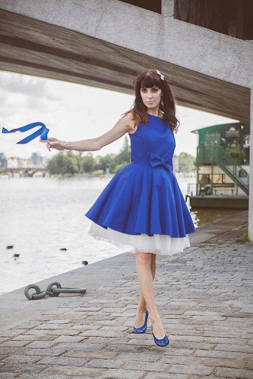 Blue dress - Autumn bows