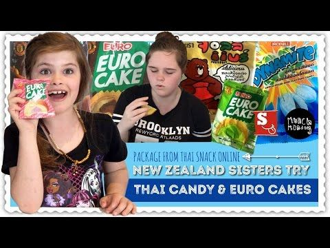 thai candy taste test | package from Thai Snack Online P1 (EP95) - YouTube
