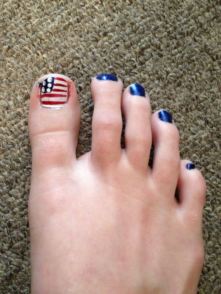fourth of july toenail art designs