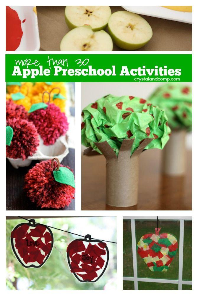Over 30 Apple Preschool Activities