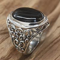 Men's onyx ring, 'Song of the Night'http://jewelry.novica.com/mens/rings/mens-onyx-ring-song-of-the-night/207498/# $45