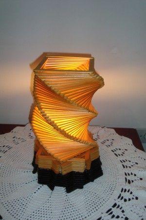 Luminárias de palito de picolé