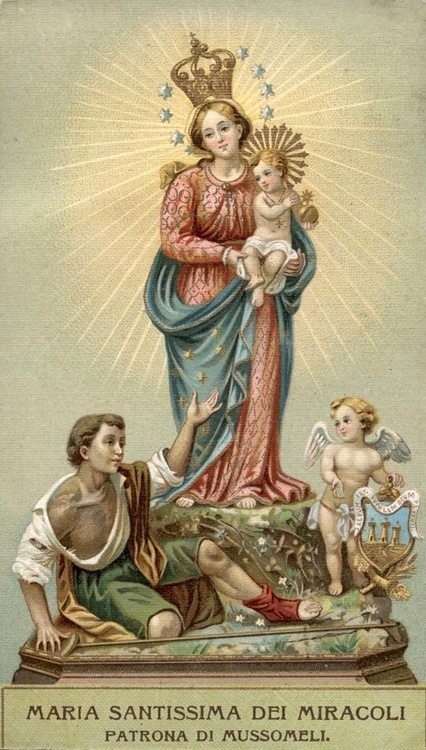 Maria Santissima dei Miracoli  The Madonna of Miracles, the patroness of the…