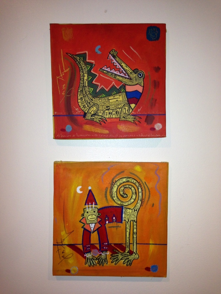 """Toy Monkey"" and ""Crocodile"" by Costa Rican artist Gustavo Araya. #LatinArt #CostaRica #FolkArt"