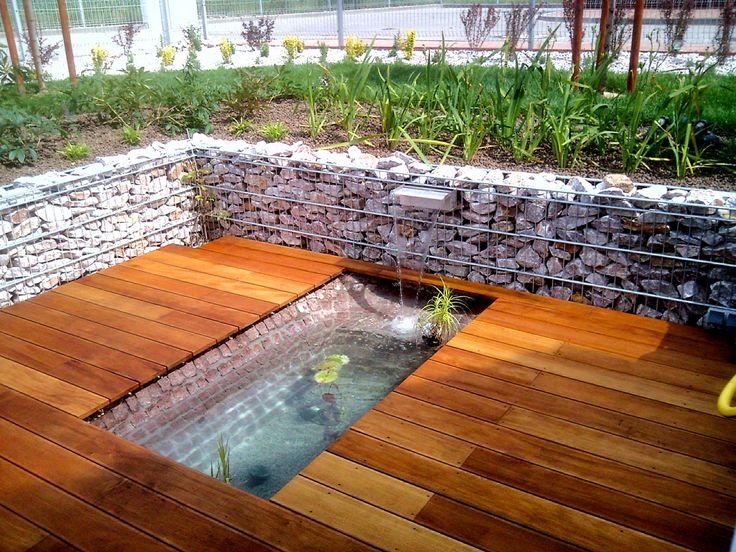 Inspirasjon | Veslemona - Hyggelig uteplass med gabions, rennende vann og blomster