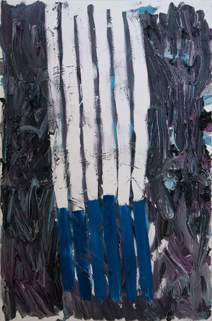 Stella Corkery, Untitled 101  oil on readymade canvas and stretcher, 610mm x 910mm