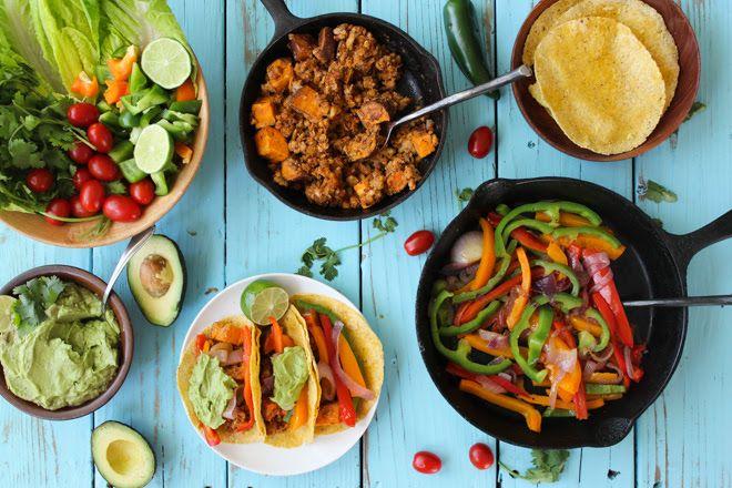 Spring Veggie Tacos with Avocado Creme | nutritionstripped.com