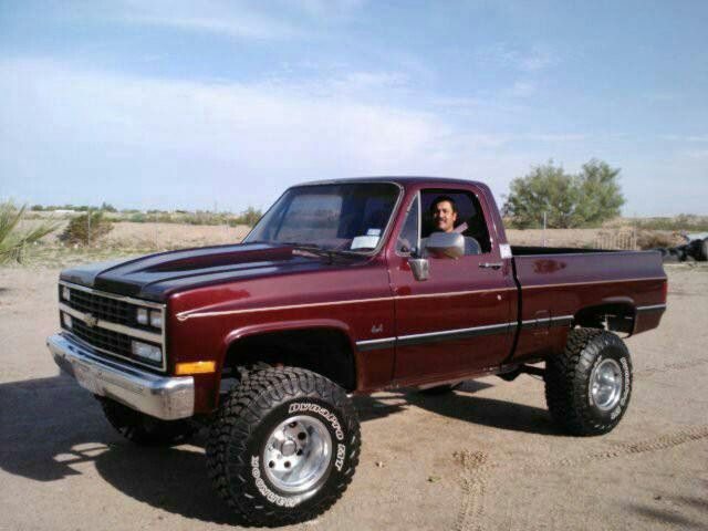 Lifted Burgundy Silverado >> 73 87 chevy truck images | Pinned by Tony Lorenzo | Dream Toys | Pinterest | Trucks, Chevy and ...