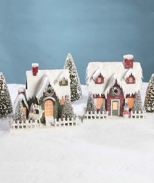 Vintage Putz Christmas Houses Bethany Lowe - The Holiday Barn
