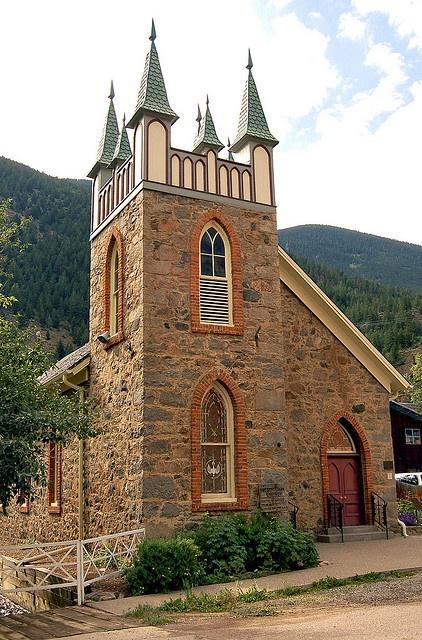 First Presbyterian Church  Georgetown, CO, c.1874  photo by M Smith