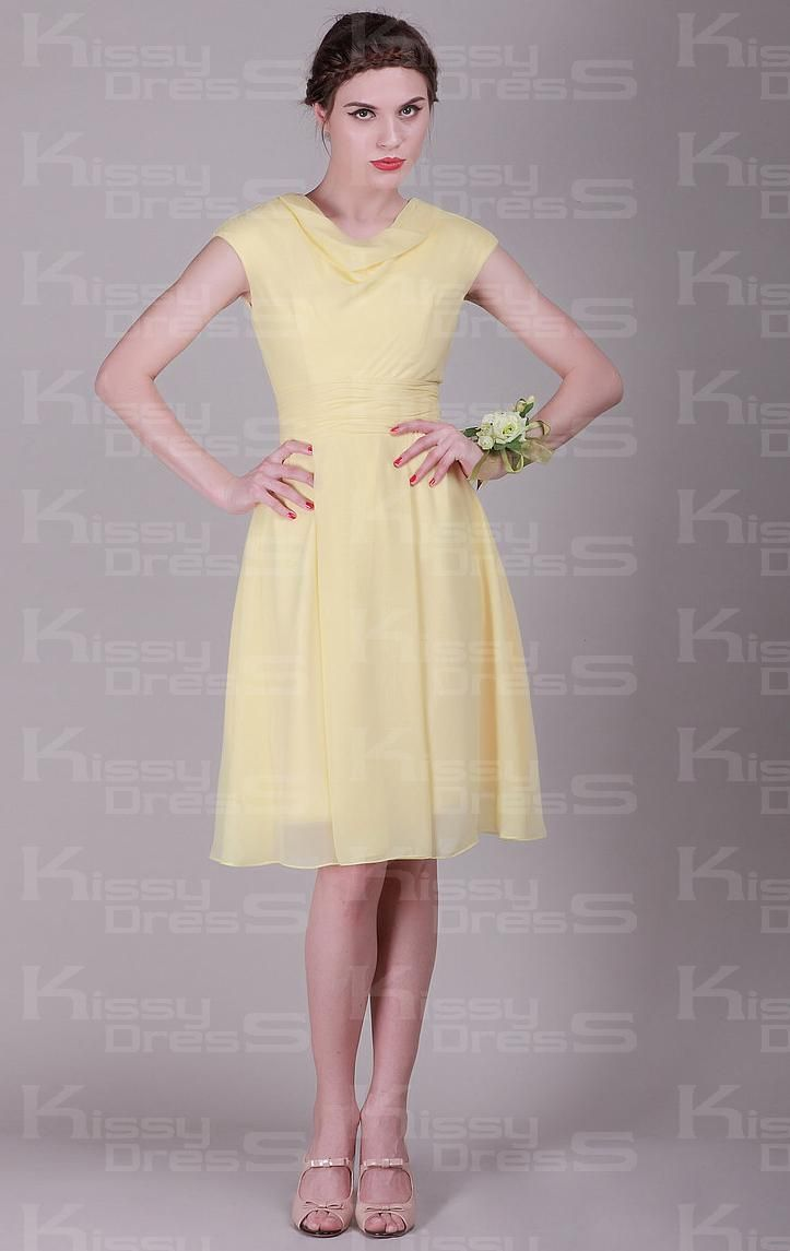 68 best bridesmaids flower girl dresses images on pinterest buy adorable yellow bridesmaid dresses at kissydress online pick up this unique cheap simpleelegant a line round neck empire knee length yellow bridesmaid ombrellifo Gallery
