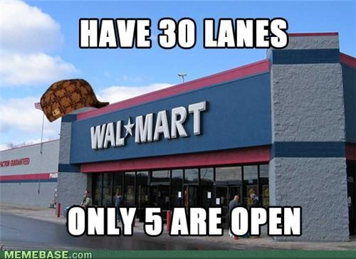 5 open lanes: Iphone 5S, Iphone 4S, Videos Games, At Walmart, Baking Good, Wal Mart, Dogs Lovers, Grocery Stores, Black Friday