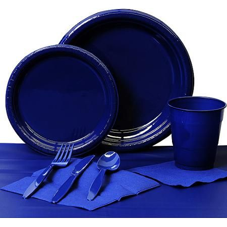 Navy Paper Basic Kit N Kaboodle $14.94 Plates napkins cups set includes 24 9\  plates  sc 1 st  Pinterest & 31 best Party - Disposable Tabletop - Plates Napkins Cups images ...