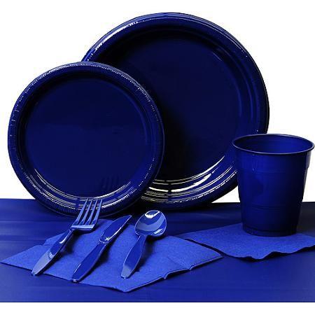 Navy Paper Basic Kit N Kaboodle $14.94 Plates napkins cups set includes 24 9\  plates  sc 1 st  Pinterest & 31 best Party - Disposable Tabletop - Plates Napkins Cups images ...