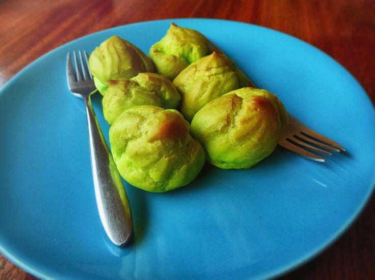 Pandan flavoured profiteroles.....oh how I love thee. #profiterole #pandan #treat #dessert #delicious #restaurant #phnompenh #cambodia #tastetravel #tastetravelfoodadventuretours #sunshinecoast #australia #holiday #vacation #instafood #instagood #followme #localsknow #bestdayever #cookingclass #foodie #foodietour #foodietravel #angkorwat #sightseeing #followme #picoftheday #pastry