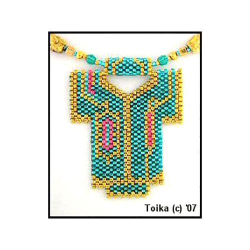 Kimono 5 Beaded Pendant Pattern | Bead-Patterns.com