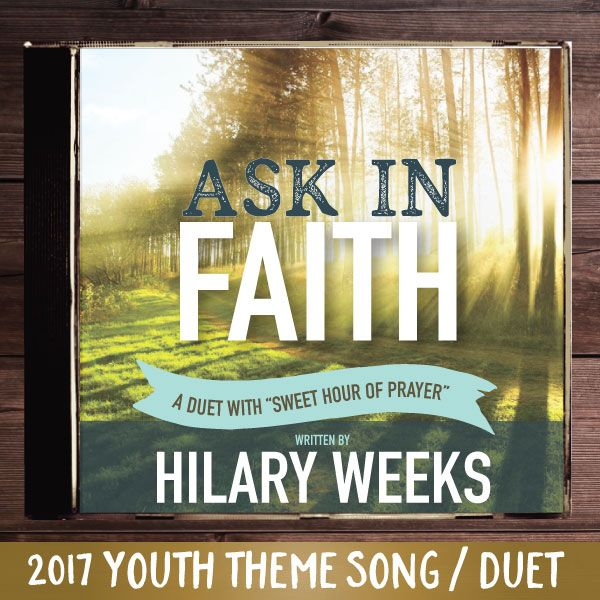 """Hilary Weeks has written an amazing duet for the 2017 LDS Mutual Theme! You will love this incredible duet that contains an original verse by Hilary Weeks along with the popular hymn """"Sweet Hour of Prayer"""". Add this to your personal library, sing with your youth group, or use it as a theme song for Girl's camp or other significant event.  Listen to the sample above to see parts of each verse, and how they are eventually sung together in a very moving way.        This MP3 is easy to play…"""