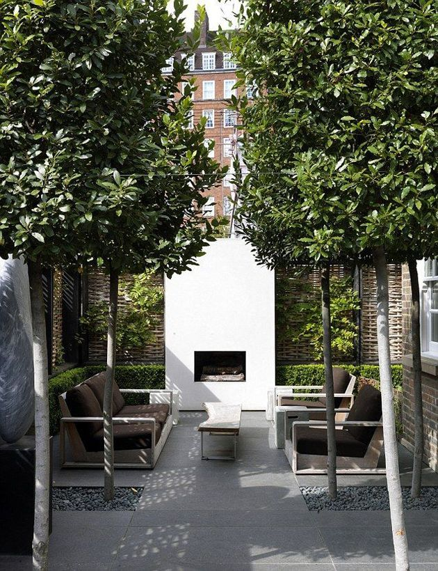 outdoor living room. Pinned to Garden Design - Courtyards by Darin Bradbury.