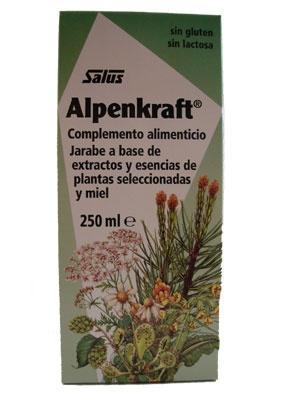 Alpenkraf.  Elaborado a base de extractos y esencias de plantas seleccionadas. Destinado al cuidado de la garganta y vías respiratorias .Ingredientes: Destilado y extracto acuoso (33,4 %): tomillo, flores de manzanilla, flores de tila, anís, alcaravea, hinojo, lúpulo, centinodia. Sacarosa, miel (29 %), extracto de malta, etanol (< 1,2 % v/v), extracto blando de pino negro, extracto blando de regaliz, espesante (alginato de sodio), aceite esencial de pino negro, aceite esencial de anís…