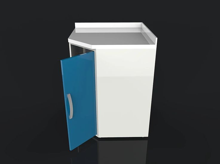 Acrylic Surface Clinic Cabinet Model ACR07