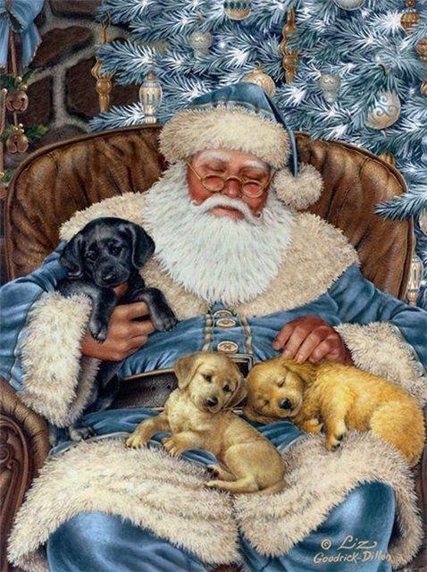 een vermoeide kerstman na een lange nacht eindelijk heerlijk slapen. mooi plaatje.: