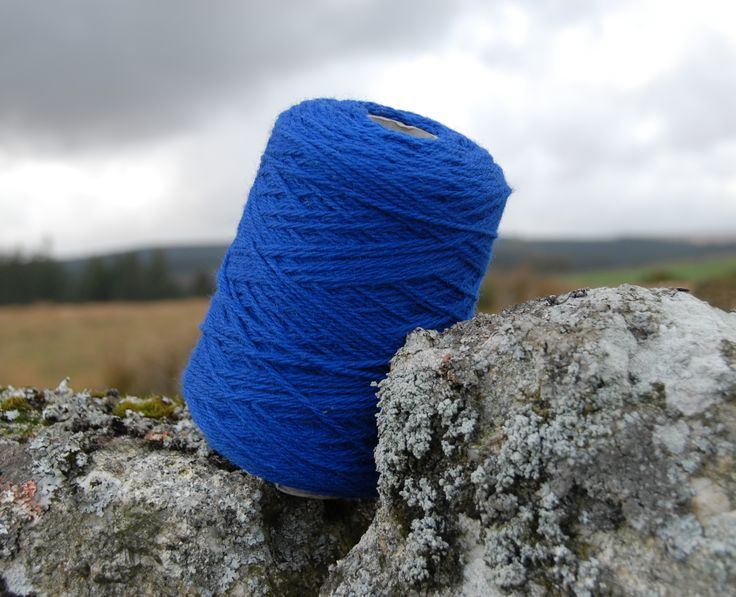 Beautiful British chunky yarn in electric royal blue. Made from the wool of my rare breed Portland sheep and organically processed in Cornwall.