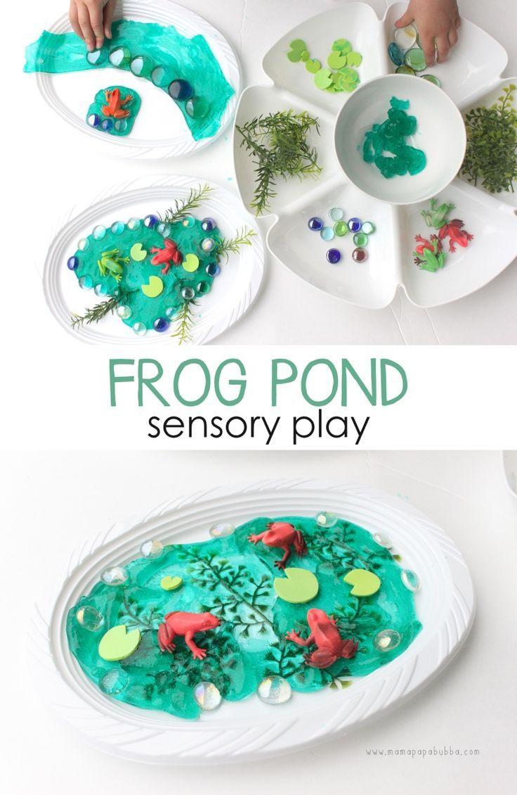 Frog Pond Sensory Play | Mama.Papa.Bubba.