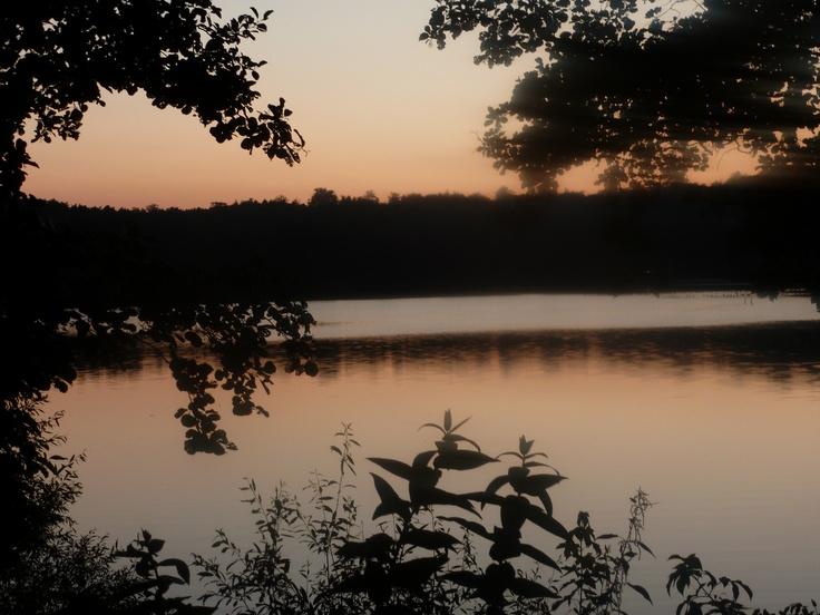 Lagow lake - sunset