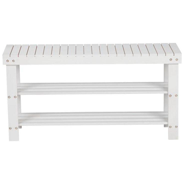 Multifunctioneel wit bankje 90 cm