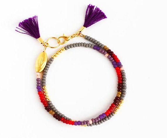 Beaded Bracelet Beaded Friendship Jewelry Tassel Beaded Bracelet Beaded Jewelry Best Friend Bracelets Gift for Her