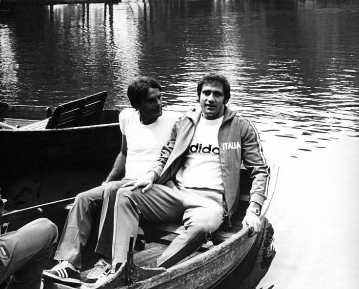 Giorgio Chinaglia et Giuseppe Wilson (Italie) 1974