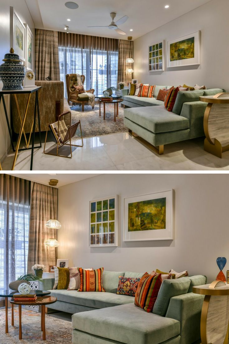 Boutique 3bhk Home Designed By Zed Designs Living Room Decor Curtains Couches Living Room Living Room Furniture Layout