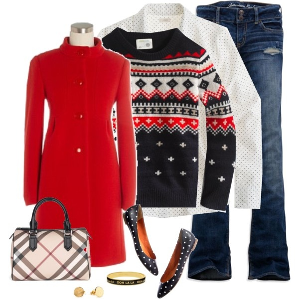 """fair isle and dots"" by shopwithm on Polyvore"