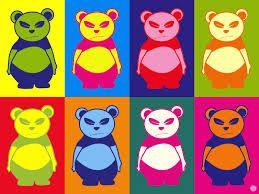 panda pop art