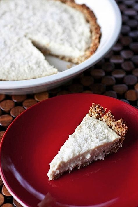 coconut cream pie, made with tofu - Will switch out with a gluten free crust from made of coconut flour and add a chocolate drizzle
