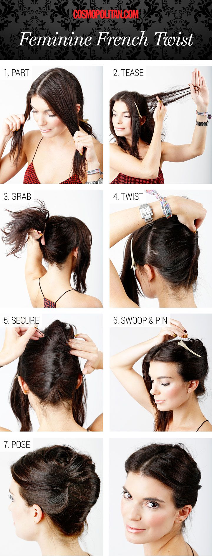 Awesome Best 25 French Twist Tutorial Ideas On Pinterest French Twist Hairstyles For Men Maxibearus