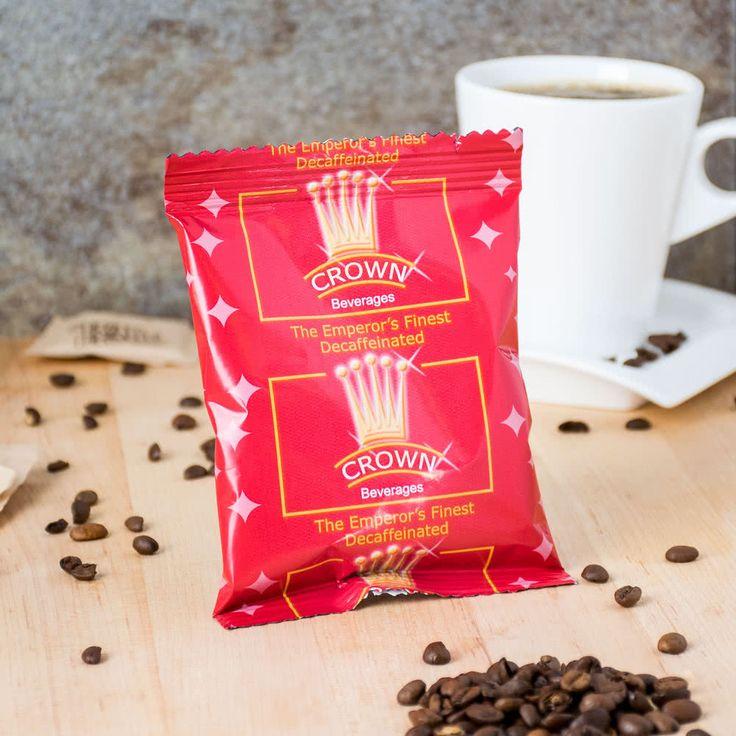 Crown Beverages Emperor's Finest Premium Blend Decaf Coffee 2 oz. Packet - 80/Case