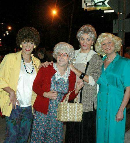 These guys dressed as The Golden Girls for Halloween!