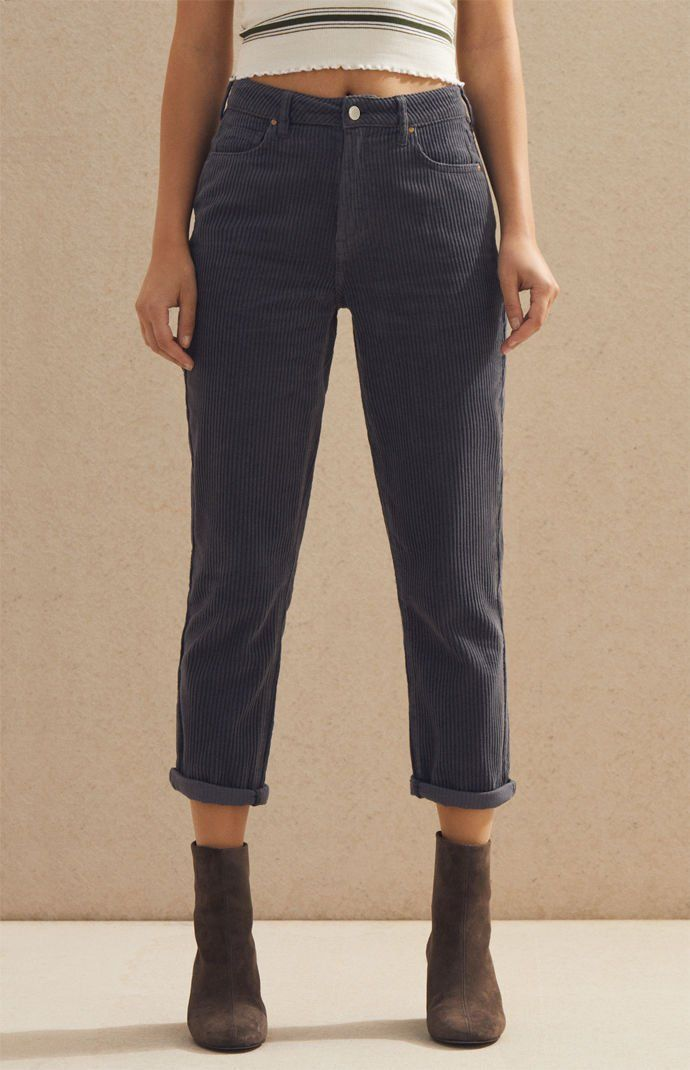 PacSun Womens Asphalt Corduroy Mom Jeans - Black  754102df9