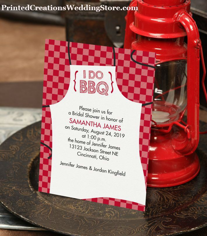 bridal shower invitations registry etiquette%0A This fun I Do BBQ Bridal Shower invitation is perfect for inviting guests  to a wedding
