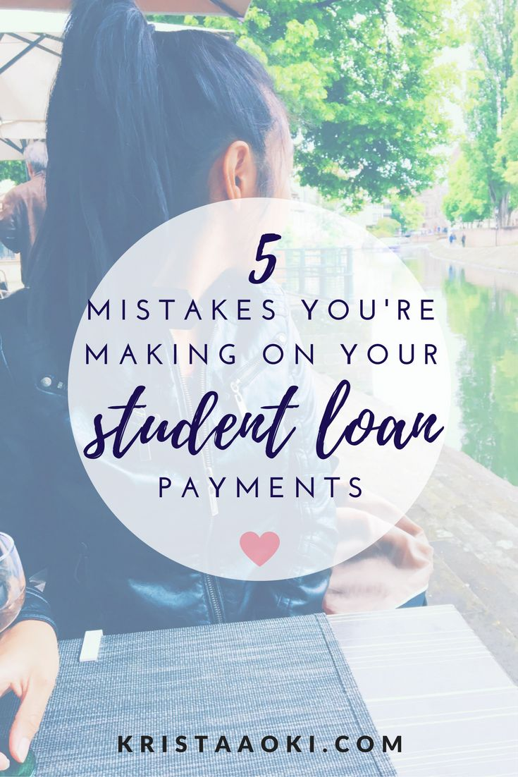 Find out the 5 student loans mistakes you are making that are costing you money. You should save thousands of dollars on your student loans by fixing these five simple student loan mistakes. refinance student loans, personal finance, save money, interest rates, refinancing.