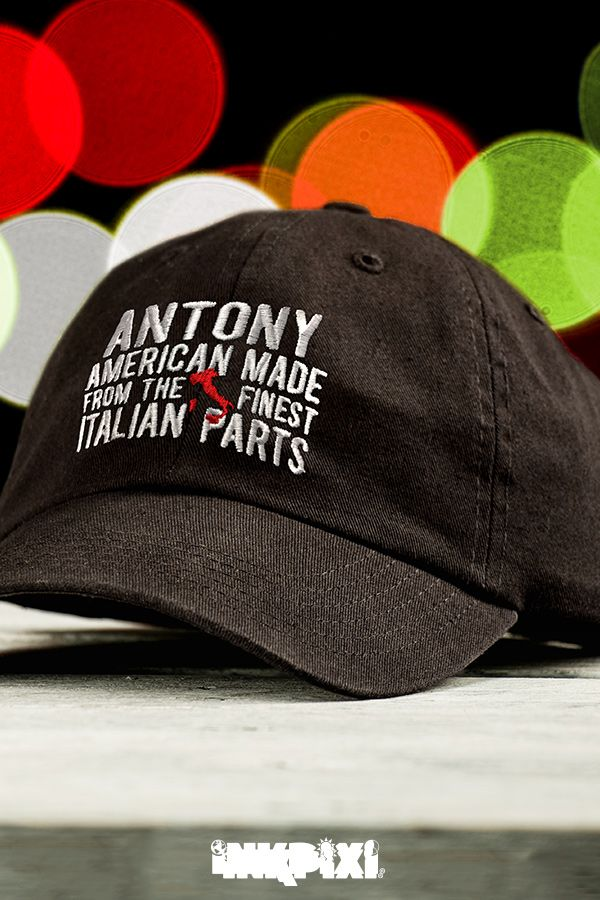 88b14eecae788 Express your pride every time you wear our Italian Parts custom hat. This  embroidered cap