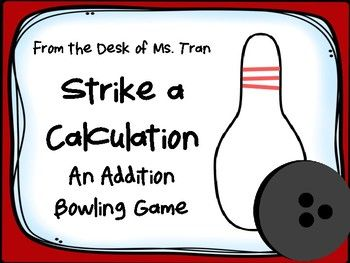 Build addition fluency and mental math through this fun bowling game!Just download, print, and you're ready to bowl and add! You will receive:-teacher directions-9 different game sheets-1 create-your-own game sheet-student directions posterYou only need connecting cubes to build bowling pins!