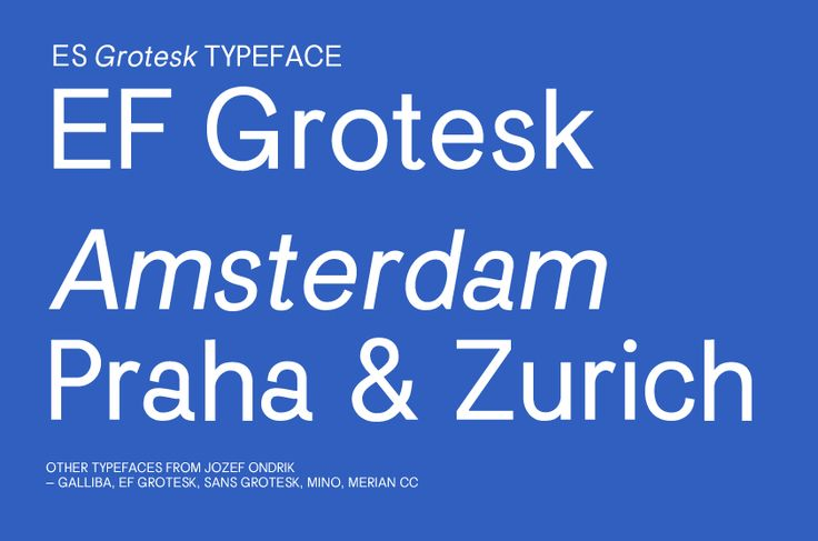 ES Grotesk Typeface