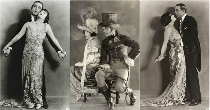"""26 Hinter den Kulissen Fotos von Rudolph Valentino und Gloria Swanson in """"Beyond the Rocks"""" (1922) www.vintag.es / ... #Startups #vintage"""