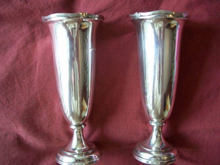 Pair of Hallmarked Silver Vases 1918   eBay