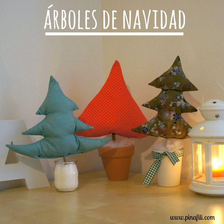 Pinafili Films: Árboles navideños de tela   Aprender manualidades es facilisimo.com